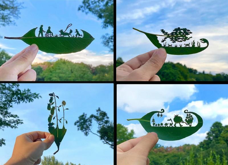 Thế giới lá cây của nghệ sĩ Nhật Bản rối loạn tăng động thiếu chú ý